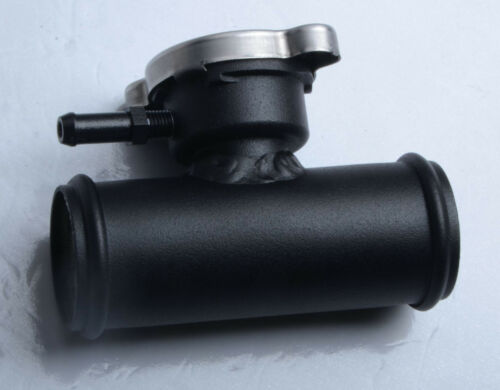 "38mm 1-1//2/""inch Aluminum In Line Radiator Hose Filler Neck Cap Black"