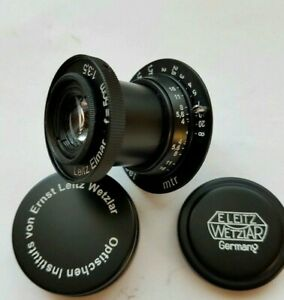 Leitz-Elmar-3-5-50-mm-RF-m39-Lens-Leica-Zeiss-eleitz-Wetzlar-schwarz