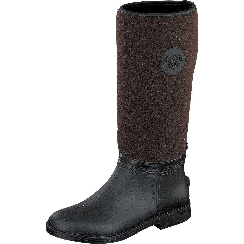 gosch Shoes Sylt Botas Mujer Marrón Botas de agua pony-83 Zapatos T.37 NUEVO