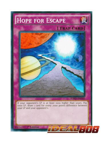 SDPD-EN040 YUGIOH x 3 Hope for Escape Common 1st Edition Near Mint