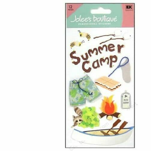 EK SUCCESS JOLEE/'S BOUTIQUE 3-D STICKERS HOLIDAYS VACATION CAMPING SUMMER CAMP