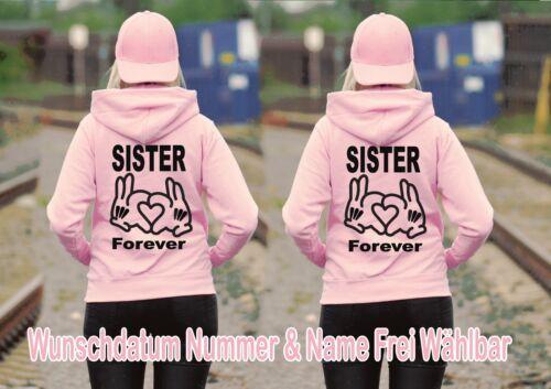 2XL Best Friends Pärchen Sister Sister Hoodie Pullover Partner Look 2 Stück XS