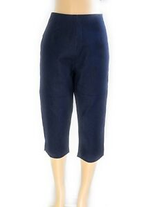 Women-039-s-Plus-Sizes-Denim-Stretch-Back-Zipper-Closure-Tapered-Capri-Pants-NWT