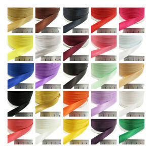 15mm-SATIN-BIAS-BINDING-PLAIN-COLOURS-3m-5m-FOLDED-TRIMMING-EDGING-43-COLOURS