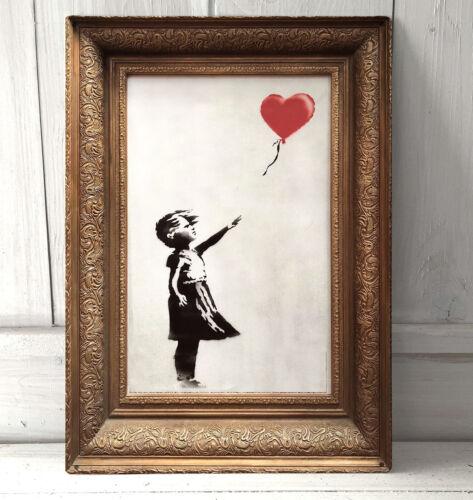 Banksy Balloon Girl Going going gone Graffiti A4 metal sign not a framed print.