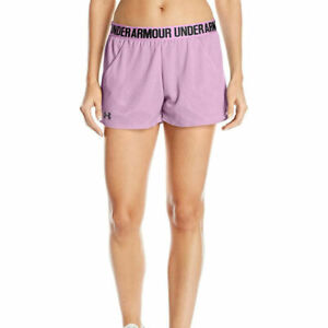 Under Armour Womens Mesh Play Up Training Gym Fitness Short Black Pink Sports