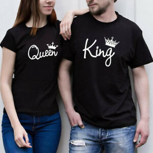 22f1d17843fd New Design Couple T-Shirt King And Queen Love Matching Shirts Summer ...
