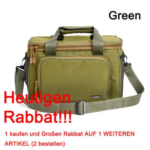 Große Angeltasche Angelbox Canvas Tasche Angelkoffer Anglertasche Fischertasche