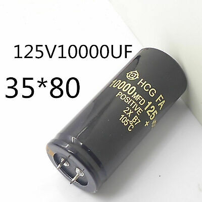 Elektrolytisch Kondensator 125V 10000uF 35x80mm 120V Capacitor Audio Neu Q7P6