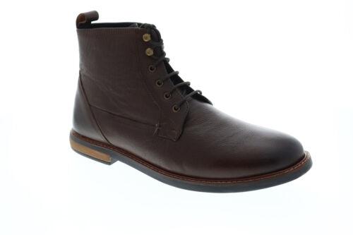 Ben Sherman Birk Plain Toe BNM00050 Mens Brown Leather Casual Dress Boots Shoes