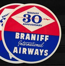 84813) Luftpost Vignette Air Mail label, USA, 30 Ann. Braniff Int.Airways..