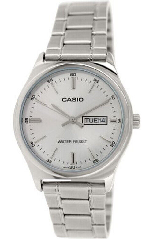 Casio Men's Analog Quartz Silver Tone Dial Stainless Steel Watch MTPV003D-7A   Ebay