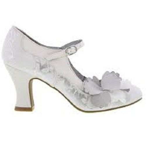 NEW Ruby Shoo Madelaine (WEISS/Silver)