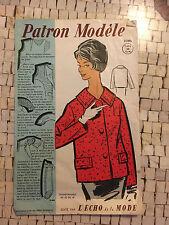 """PATRON MODELE """"LES ECHOS DE LA MODE"""" 50's"""