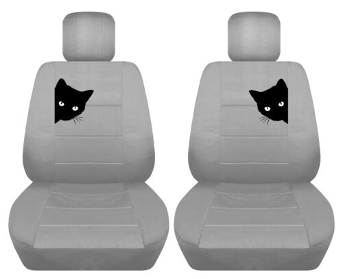 Fits Ford focus front car seat cover solid silver w//frog,cat,owl,dragonfly,more