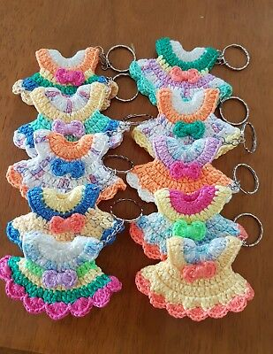 Keyring with handmade crochet cute mouse .A little gift .Plus 2 free magnets.
