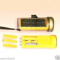 Solar Flashlight & Aa Battery Charger Also Bicycle Headlight Or Tail Light