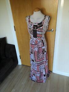 Ladies-TU-Dress-Size-14-16-Cream-Long-Maxi-Cheesecloth-Gauze-Casual-Day-Boho