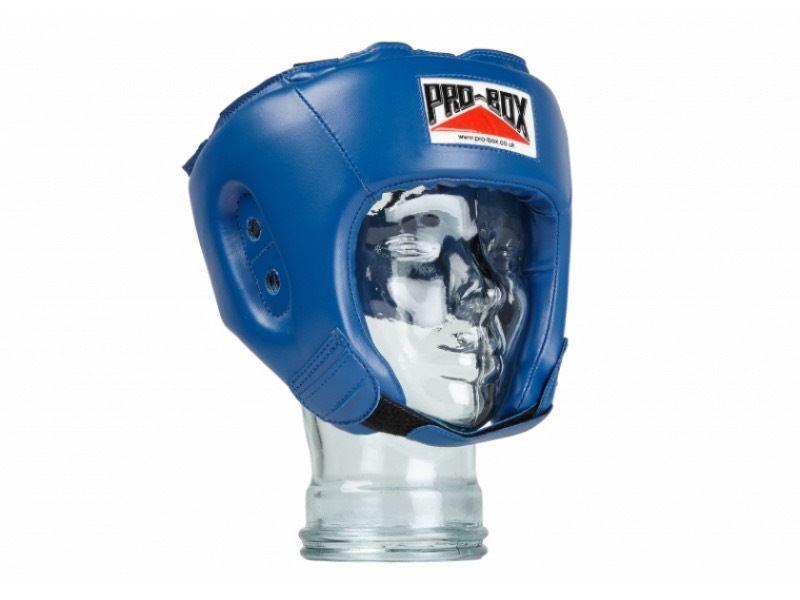 Pro boxe Box enfants Tête de boxe Pro Protège entraînement bleu garçon fille Base Spar da6a23