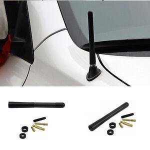 1PC-Universal-Auto-Car-12cm-Black-Alumni-Alloy-Carbon-Fiber-FM-AM-Antenna-Screws