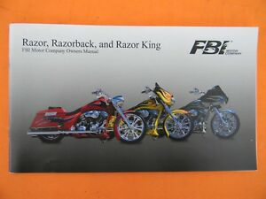 FBI-Fat-Baggers-Inc-Owner-039-s-Manual-Razor-Razorback-Razor-King-Used