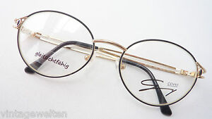 Brillenfassungen Damen-accessoires Schlussverkauf Genny Schwarz Goldene Schmuckbrille Markengestell Verziert Damenbrille Grösse M