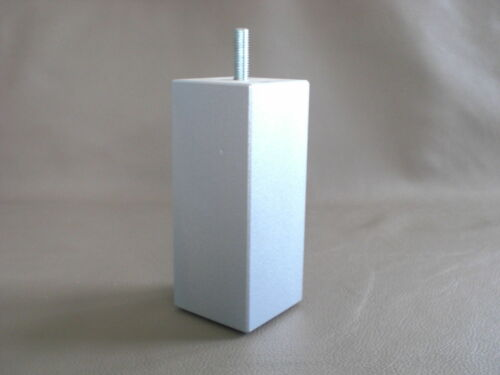 Tischbein Möbelfüße Bettfüße Quadrat BUCHE GRAU M8  H-10 bis 20cm 50X50mm.