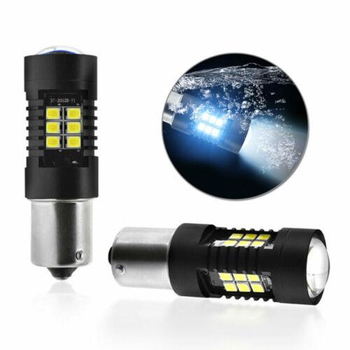 2*Canbus No Error 1156 BA15S P21W LED Car Tail Light Backup Reverse Bulb White