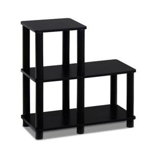Night Stand Side Table Modern Accent Table With 3 Shelves For Storage Bookcase