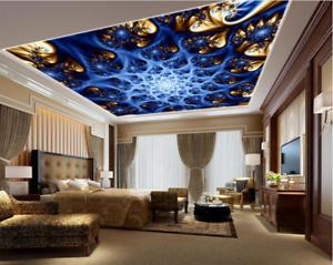 3D Bule Paint 420 Ceiling WallPaper Murals Wall Print Decal AJ WALLPAPER US