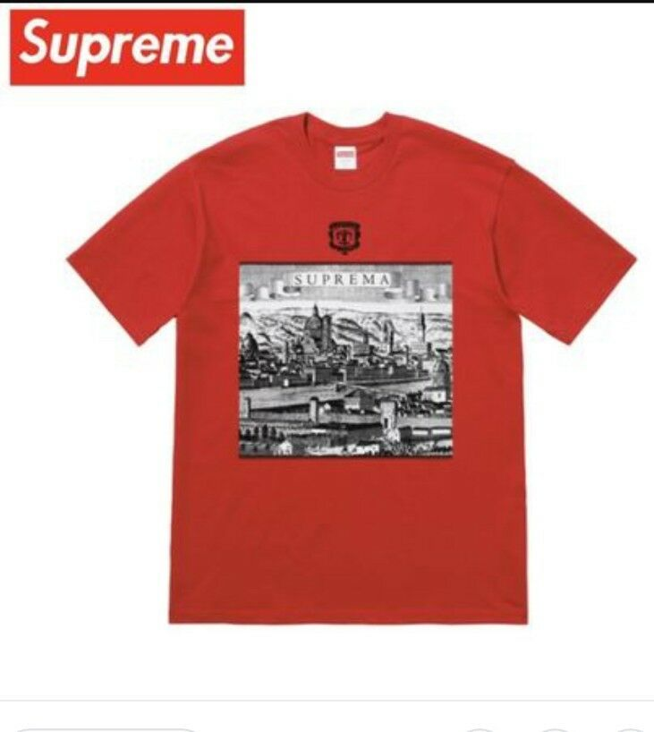 SUPREME S S '18 Fiorenza Tee Red size Large