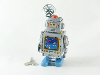 Roboter silber mit Antenne  4630502 Blechspielzeug