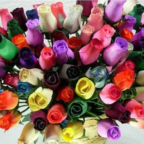 Various Red and Burgundy Colors Small Bud Wood Roses