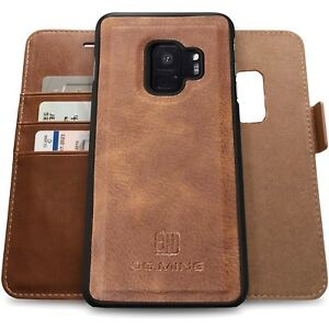 official photos baef3 a49db Samsung Galaxy S9 / S9+ Genuine Leather Wallet Case with RFID ...