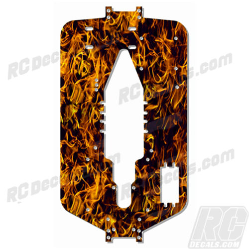 Traxxas T-maxx 3.3 Extended Chassis Plate Protector Dark Orange Flames TRA5122X
