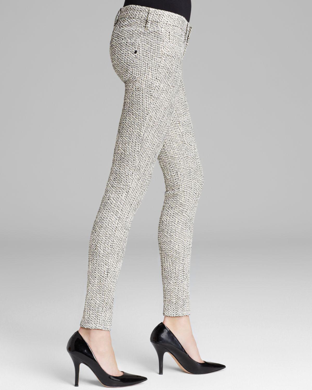 New Womens 26 NWT  Genetic Denim Metallic Tweed Shane Pants Cherish Skinny