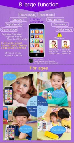 English Learning Mobile Phone Baby Kid Educational Toys Christmas New Year Gift