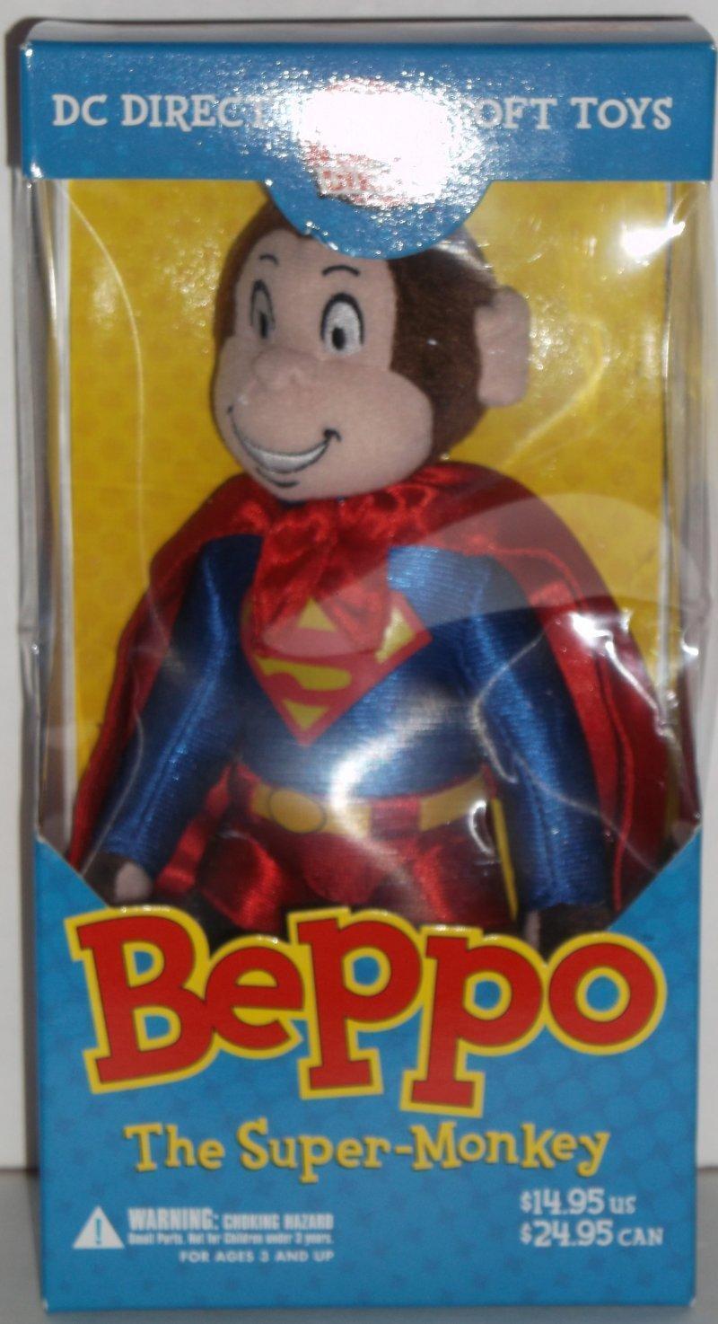 Dc Direct Beppo der Super-Monkey Plüschtier Supermans Haustier Affe Selten Htf