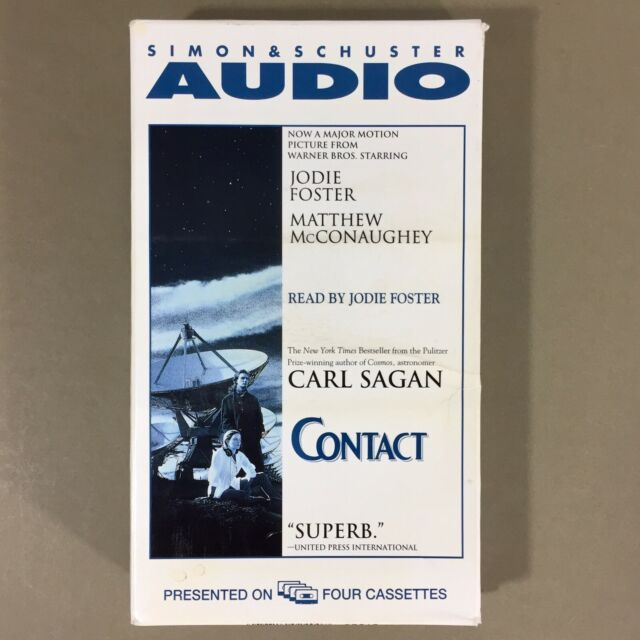 Contact audio book 4 cassette tapes read by Jodie Foster abridged 5 hours aliens