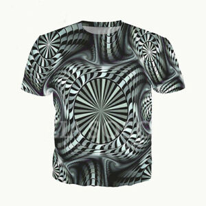 7a6176661c715 Details about Women Men 3D T-Shirt Psychedelic Space Print Shirt Casual  Short Sleeve Tee Tops