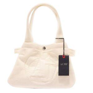 2693S borsa donna ARMANI JEANS tessuto bianco borsa a mano hand bag ... 8a2152043bc