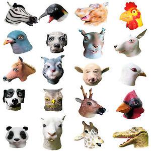 Animal-Head-Latex-Masks-Fancy-Dress-Party-Animal-Kingdom-Rubber-Overhead-Mask