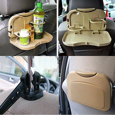 Food Meal Drink Tray Foldable Car Auto Desk Table Stand Holder Water Cup Dining
