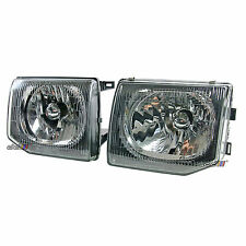 Left+Right Crystal Clear Headlight Lamp Mitsubishi Pajero Montero NJ NK NL 91-99