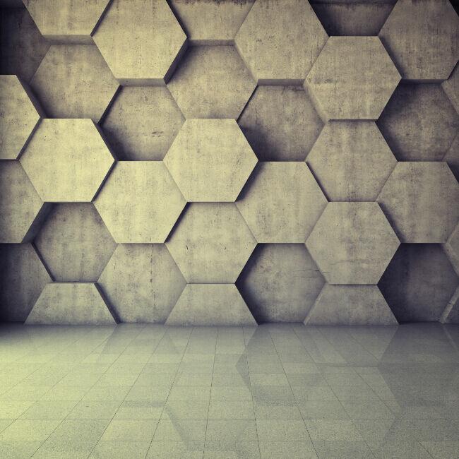 3D Motif Diamant 6 Photo Papier Peint en Autocollant Murale Plafond Chambre Art