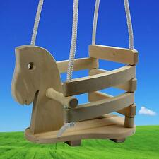 Pferdeschaukel Schaukelsitz aus Holz Gitterschaukel Schaukelpferd Brettschaukel