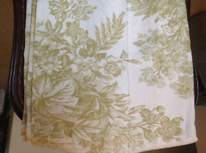 Pottery Barn Matine Sprout Green Linen Toile Shower