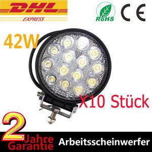 10x 42W Led Arbeitsscheinwerfer Offroad work light SUV ATV PKW Beleuchtung Lampe