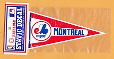 1990 OLD LOGO MONTREAL EXPOS PENNANT DECAL STICKER UNSOLD STILL PACKAGED