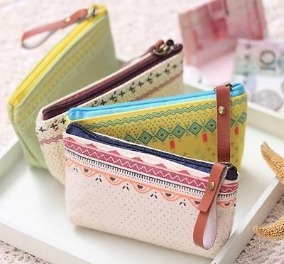 NEW WOMEN Lady Cute Cosmetic Coin Cellphone Makeup Pouch Bag Purse Wallet  GO CA